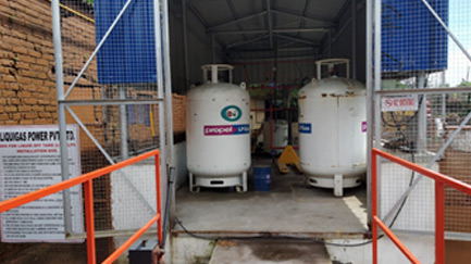 LPG being used as fuel in baking oven at IP – Kolkata