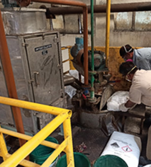 Dust collector at the Lithium Hydroxide dosing area, G&L – Manali